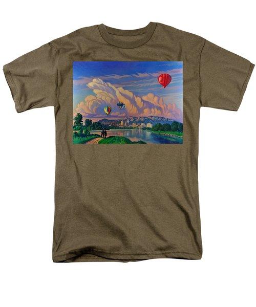 Ballooning On The Rio Grande Men's T-Shirt  (Regular Fit) by Art James West