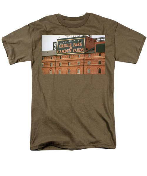 Baltimore Orioles Park At Camden Yards Men's T-Shirt  (Regular Fit) by Frank Romeo