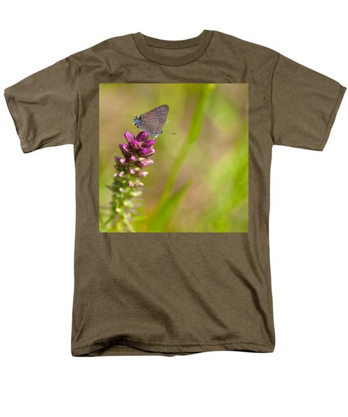 Banded Hairstreak Butterfly Men's T-Shirt  (Regular Fit) by Melinda Fawver