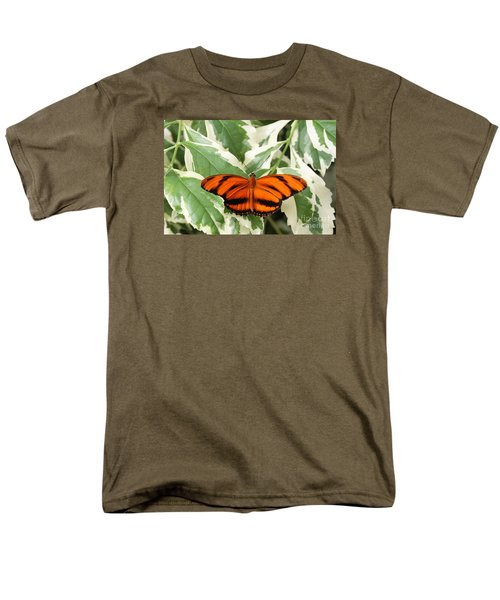 Banded Orange Longwing Butterfly Men's T-Shirt  (Regular Fit) by Judy Whitton