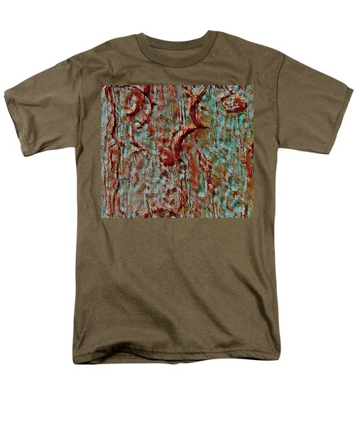 Men's T-Shirt  (Regular Fit) featuring the digital art Bark Layered by Stephanie Grant