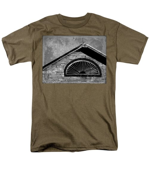 Barn Detail - Black And White Men's T-Shirt  (Regular Fit) by Joseph Skompski