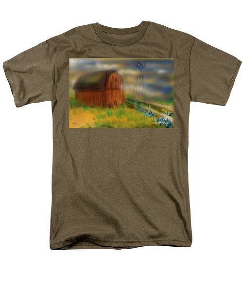 Men's T-Shirt  (Regular Fit) featuring the painting Barn by Marisela Mungia