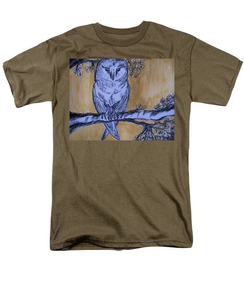 Men's T-Shirt  (Regular Fit) featuring the painting Barn Owl by Teresa White