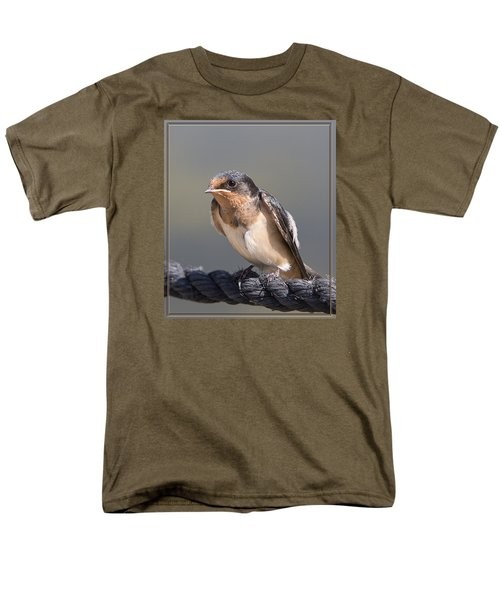 Men's T-Shirt  (Regular Fit) featuring the photograph Barn Swallow On Rope I by Patti Deters