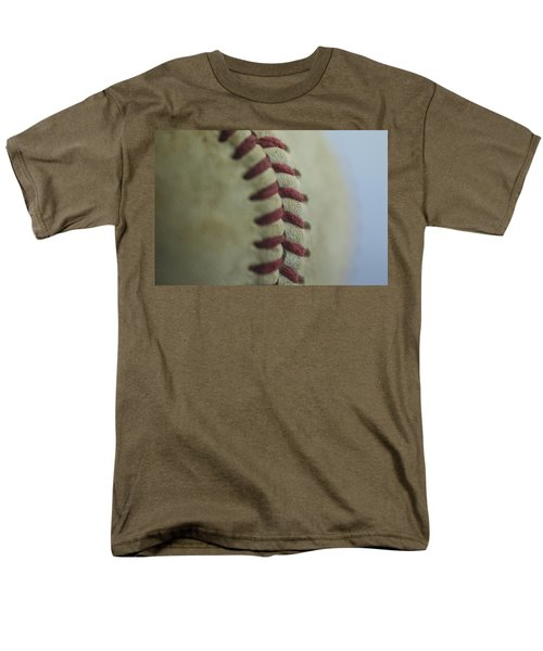 Baseball Macro 2 Men's T-Shirt  (Regular Fit) by David Haskett