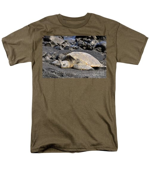 Men's T-Shirt  (Regular Fit) featuring the photograph Basking In The Sun by David Lawson