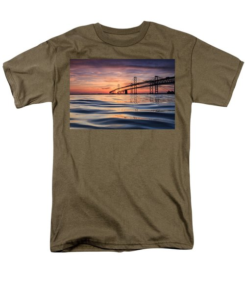 Bay Bridge Silk Men's T-Shirt  (Regular Fit)