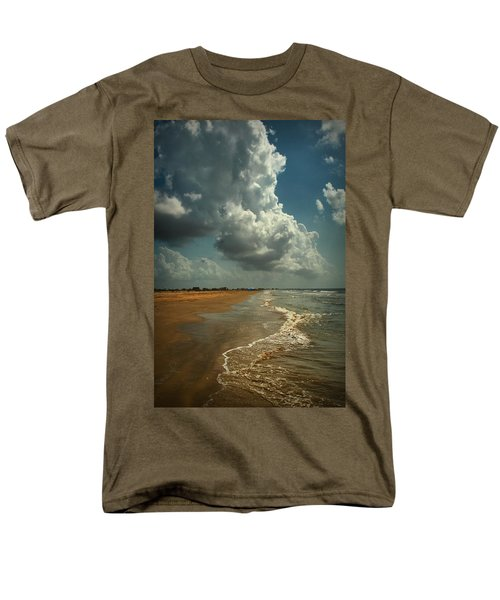 Beach And Clouds Men's T-Shirt  (Regular Fit) by Linda Unger