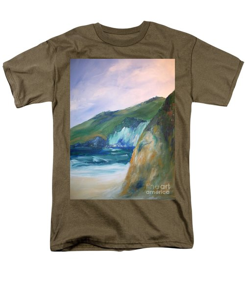 Men's T-Shirt  (Regular Fit) featuring the painting Beach California by Eric  Schiabor