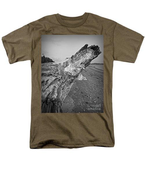 Beach Driftwood View Men's T-Shirt  (Regular Fit) by Chalet Roome-Rigdon