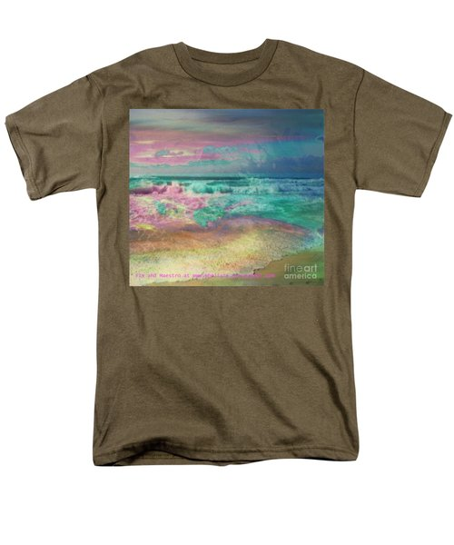 Men's T-Shirt  (Regular Fit) featuring the painting Beach  Overcast by PainterArtist FIN