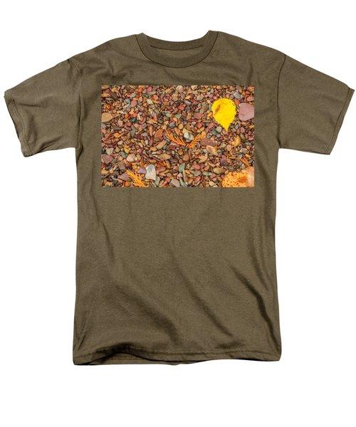 Beach Pebbles Of Montana Men's T-Shirt  (Regular Fit) by Brenda Jacobs
