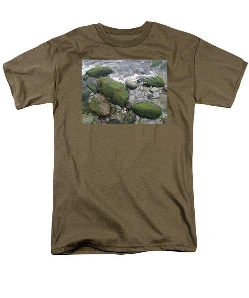 Men's T-Shirt  (Regular Fit) featuring the photograph Beach Rocks by Robert Nickologianis