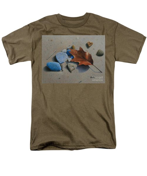 Men's T-Shirt  (Regular Fit) featuring the painting Beach Still Life II by Pamela Clements