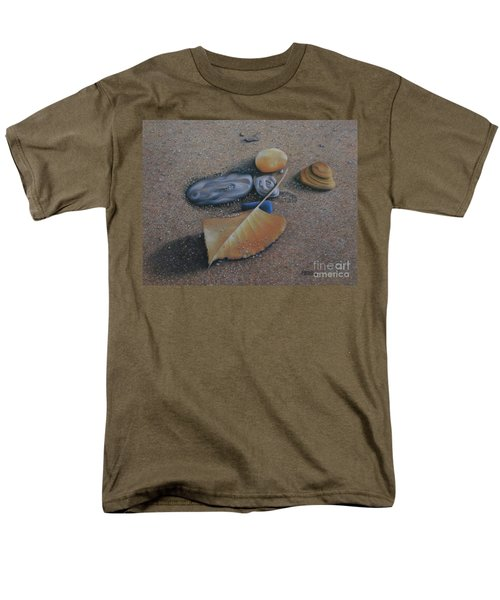 Beach Still Life IIi Men's T-Shirt  (Regular Fit) by Pamela Clements