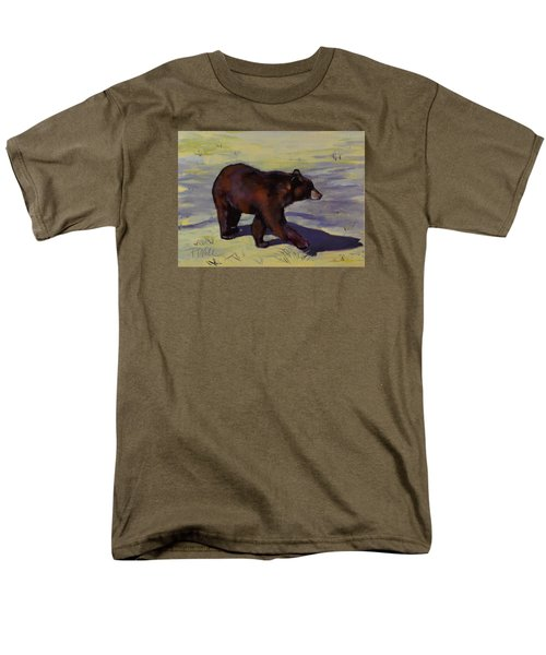 Men's T-Shirt  (Regular Fit) featuring the painting Bear Shadows by Pattie Wall