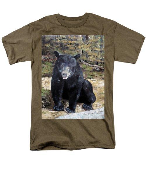 Bear - Wildlife Art - Ursus Americanus Men's T-Shirt  (Regular Fit) by Jan Dappen