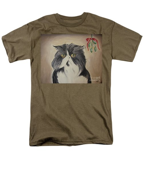 Beau With Mistletoe Men's T-Shirt  (Regular Fit) by Victoria Lakes