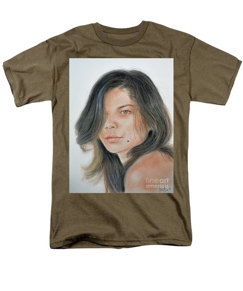 Men's T-Shirt  (Regular Fit) featuring the drawing Beautiful And Sexy Actress Jeananne Goossen IIi  by Jim Fitzpatrick