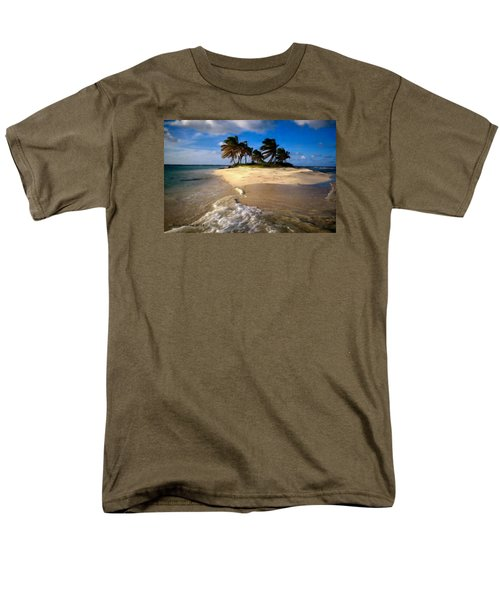 Men's T-Shirt  (Regular Fit) featuring the painting Beautiful Island by Bruce Nutting