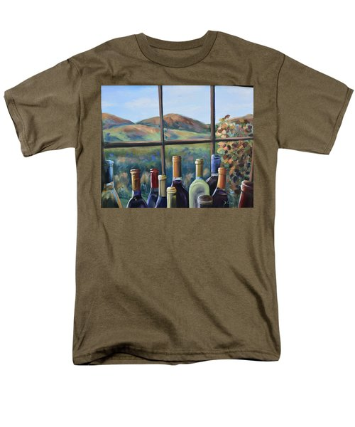 Men's T-Shirt  (Regular Fit) featuring the painting Beautiful View by Donna Tuten