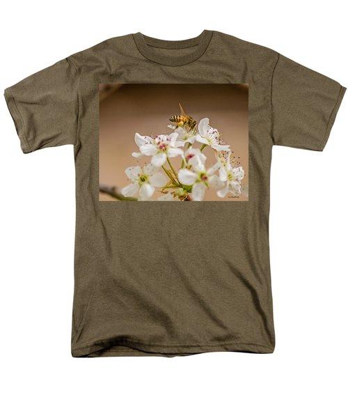 Bee Working The Bradford Pear 4 Men's T-Shirt  (Regular Fit) by Allen Sheffield