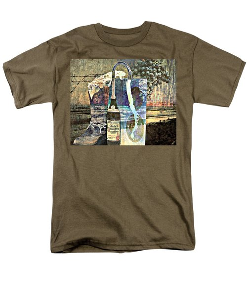 Men's T-Shirt  (Regular Fit) featuring the mixed media Beer On Tap by Ally  White