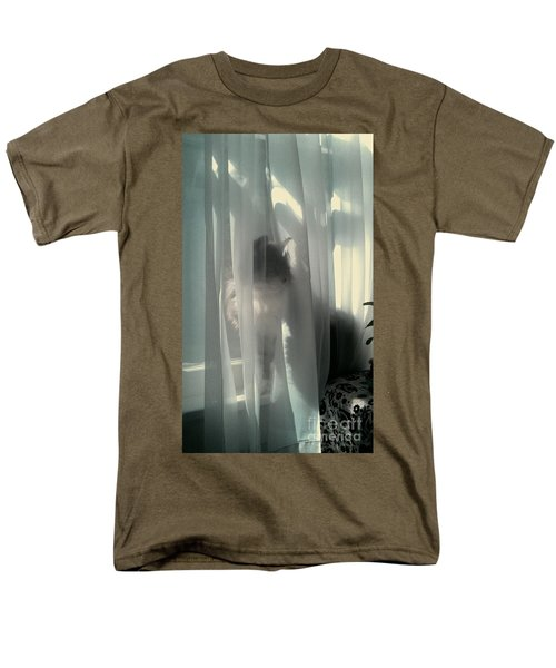 Men's T-Shirt  (Regular Fit) featuring the photograph Behind The Curtain by Jacqueline McReynolds