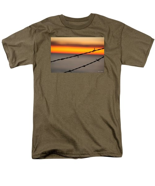 Men's T-Shirt  (Regular Fit) featuring the photograph Beyond The Wire by Amy Gallagher