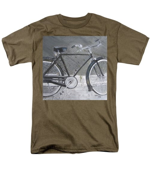 Bicycle In Rome Men's T-Shirt  (Regular Fit) by Claudia Goodell
