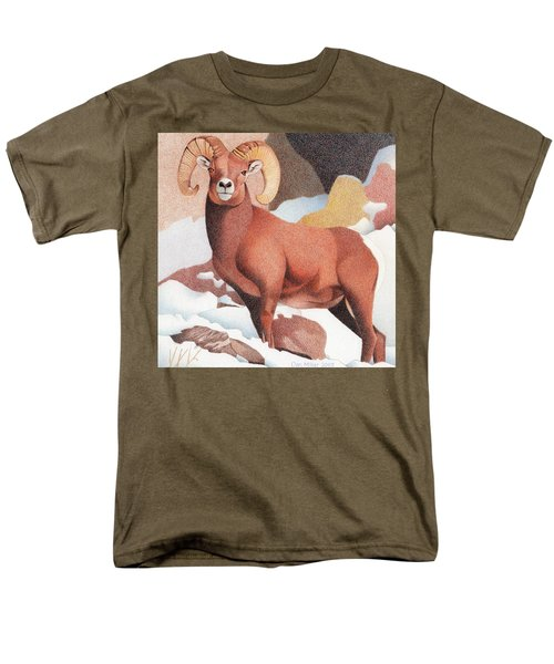 Bighorn Sheep Men's T-Shirt  (Regular Fit) by Dan Miller