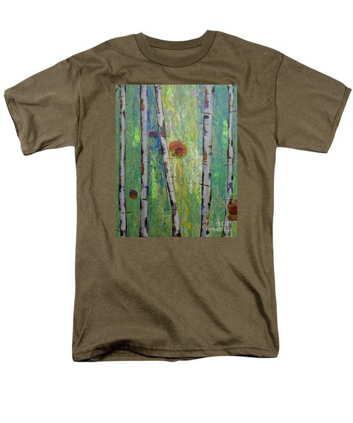 Birch - Lt. Green 5 Men's T-Shirt  (Regular Fit) by Jacqueline Athmann