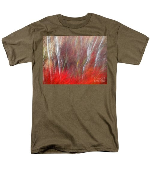 Birch Trees Abstract Men's T-Shirt  (Regular Fit) by Tara Turner
