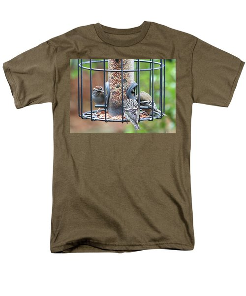 Birds At Lunch Men's T-Shirt  (Regular Fit) by Ellen O'Reilly