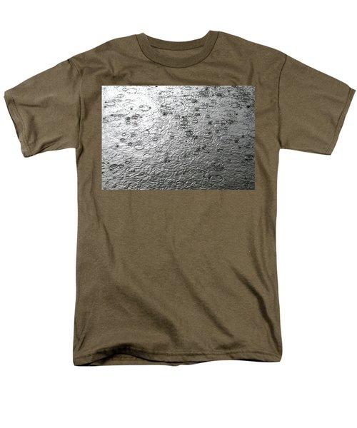 Black And White Rain Men's T-Shirt  (Regular Fit) by Leena Pekkalainen