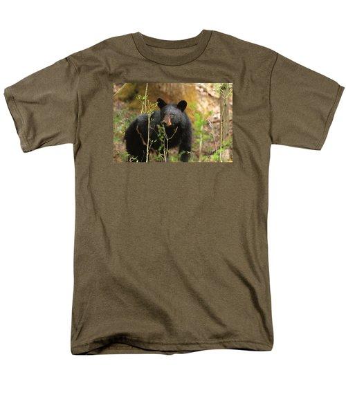 Men's T-Shirt  (Regular Fit) featuring the photograph Black Bear by Geraldine DeBoer