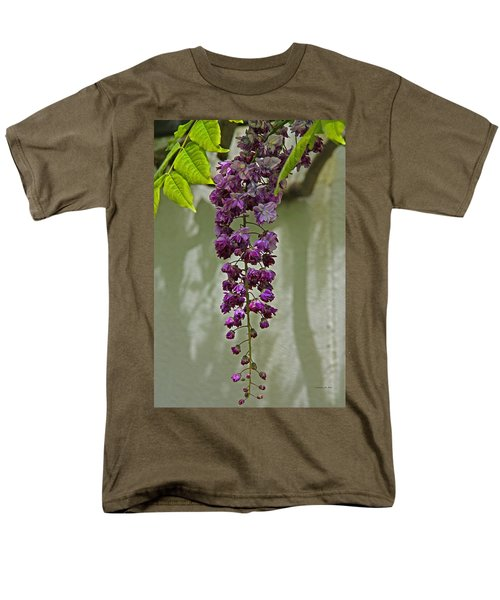 Black Dragon Wisteria Men's T-Shirt  (Regular Fit) by Suzanne Stout