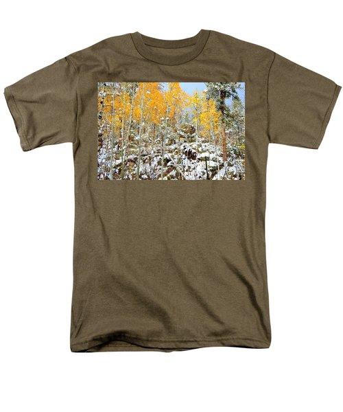 Men's T-Shirt  (Regular Fit) featuring the photograph Black Hills Boulders by Clarice  Lakota