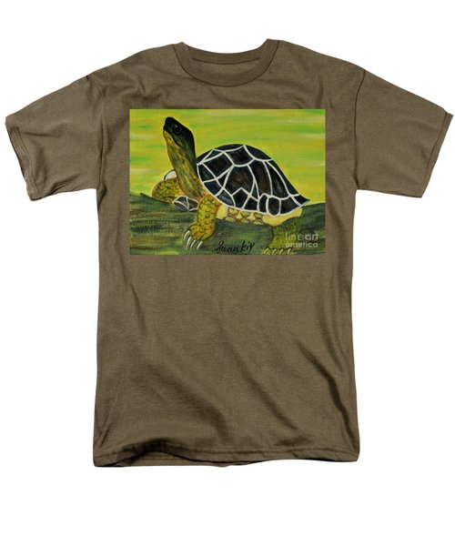 Black Turtle. Inspirations Collection. Men's T-Shirt  (Regular Fit) by Oksana Semenchenko