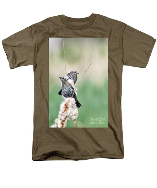 Blackbird Pair Men's T-Shirt  (Regular Fit) by Mike  Dawson