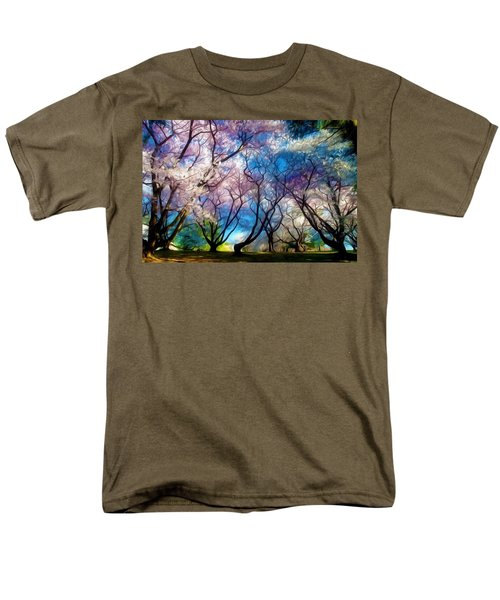 Blossom Cherry Trees Over Spring Sky Men's T-Shirt  (Regular Fit) by Lanjee Chee