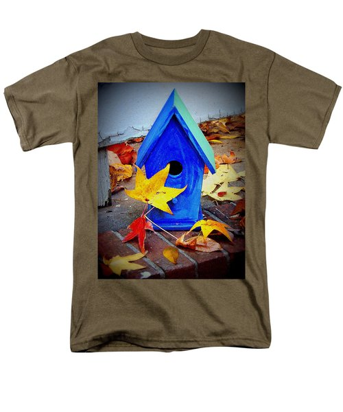 Men's T-Shirt  (Regular Fit) featuring the photograph Blue Bird House by Rodney Lee Williams