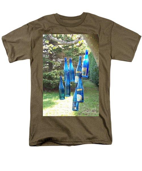 Blue Bottle Tree Men's T-Shirt  (Regular Fit) by Jackie Mueller-Jones