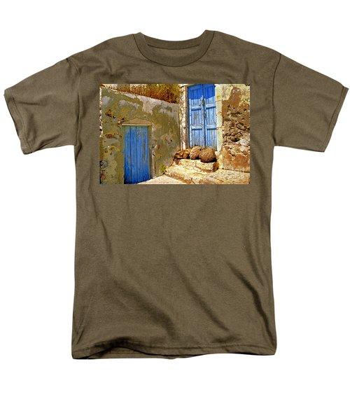 Blue Doors Of Santorini Men's T-Shirt  (Regular Fit) by Madeline Ellis