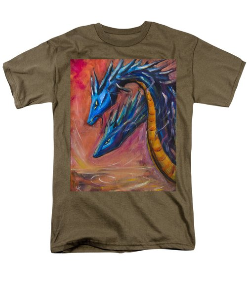 Men's T-Shirt  (Regular Fit) featuring the painting Blue Dragons by Yulia Kazansky