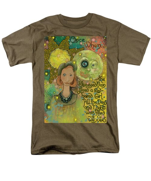 Men's T-Shirt  (Regular Fit) featuring the painting Blue-eyed Moon by Carol Jacobs