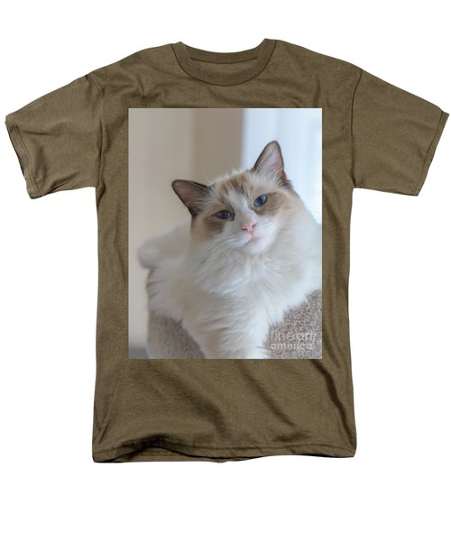Men's T-Shirt  (Regular Fit) featuring the photograph Blue-eyed Ragdoll Kitten by Peta Thames