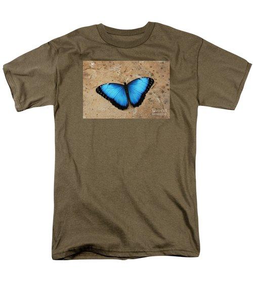 Blue Morpho #2 Men's T-Shirt  (Regular Fit) by Judy Whitton