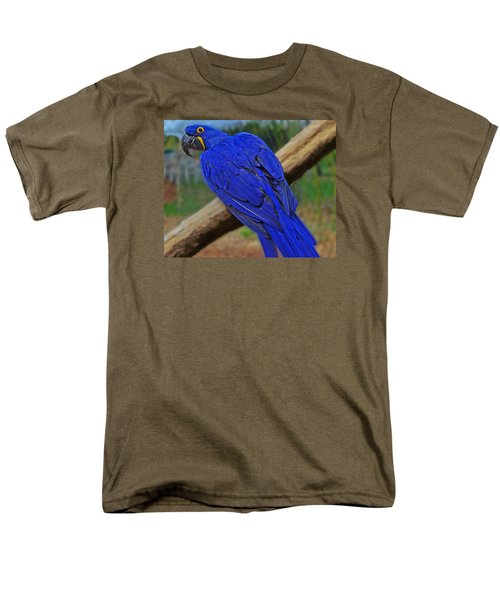 Men's T-Shirt  (Regular Fit) featuring the photograph Blue Parrot by Jack Moskovita